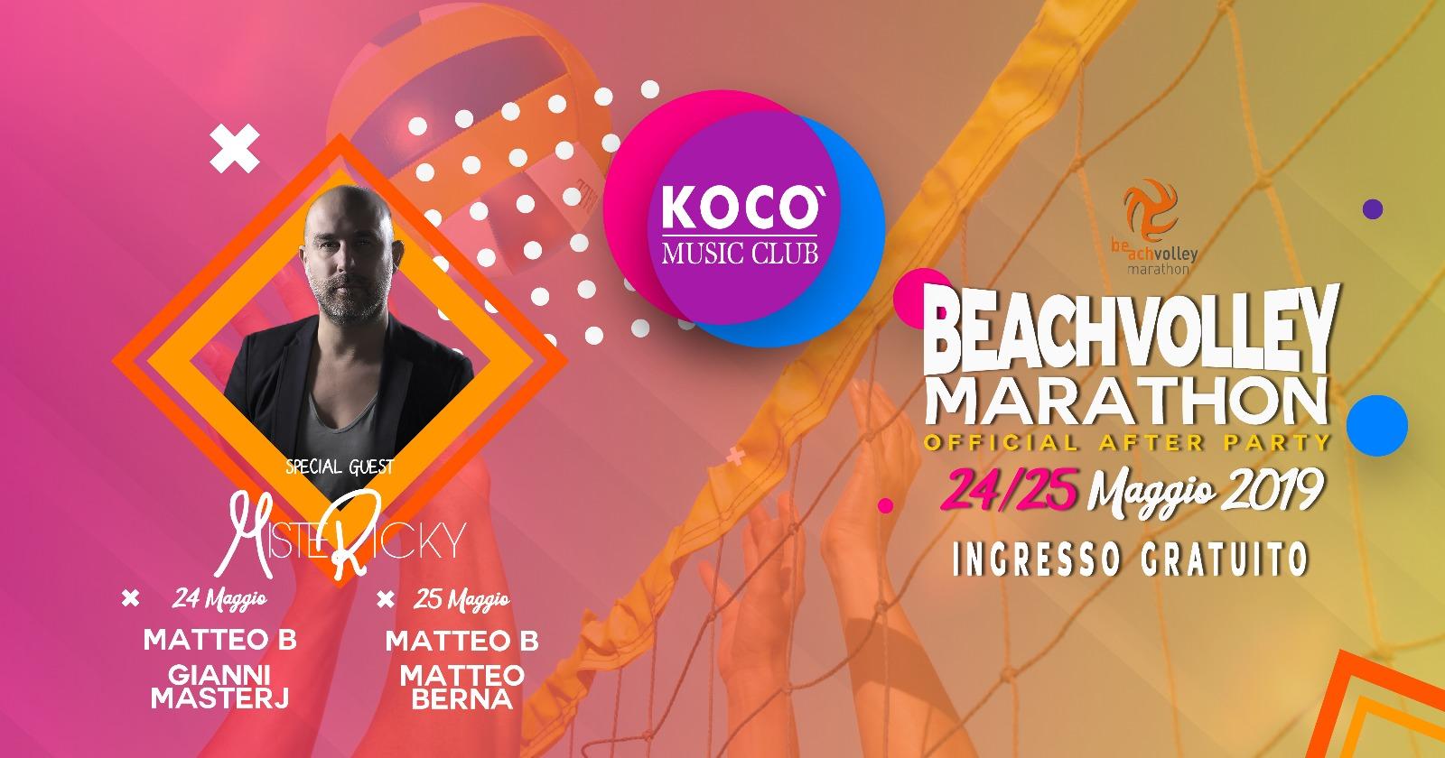 VEN 24 E SAB 25 Maggio: Beach volley marathon after party! 2019